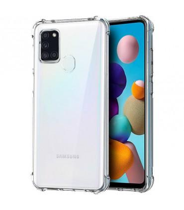 Funda Silicona Anti-Shock Samsung Galaxy A21s Transparente
