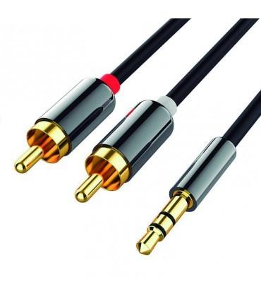 Cable Jack 3.5mm a 2 x RCA Audio Premium 1M